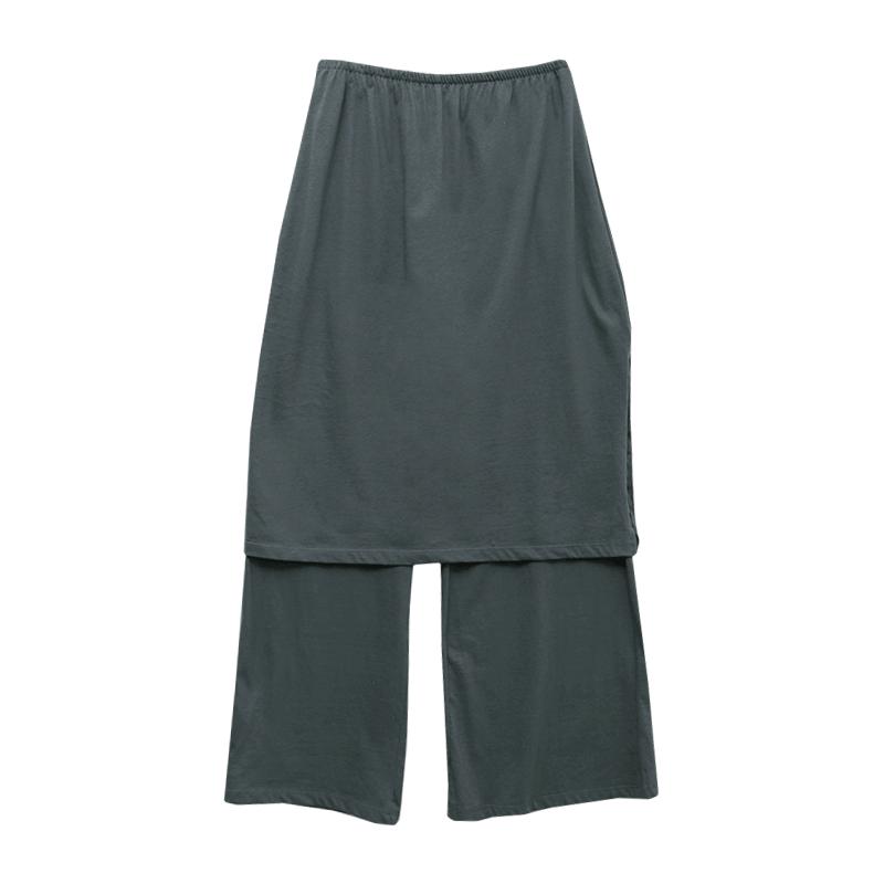 Skirt-Layered Pants