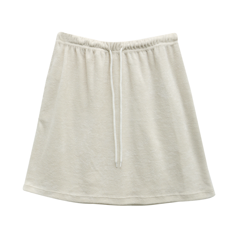 Back Pocket Drawstring Waist Skirt