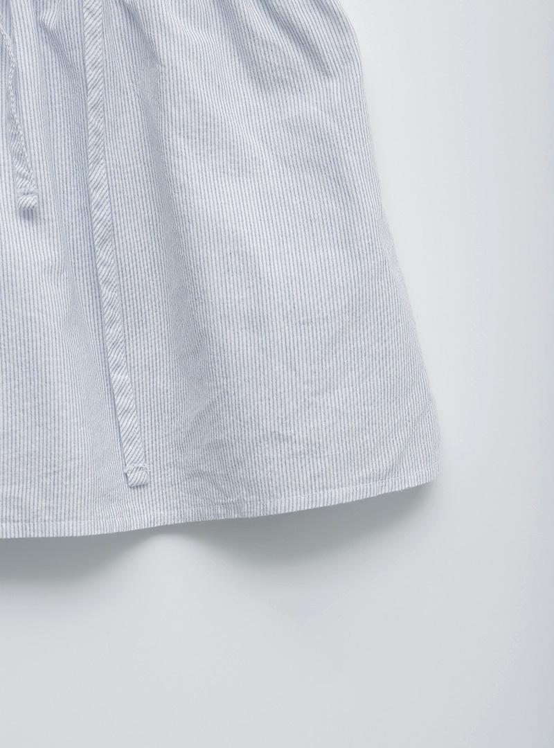 抽繩鬆緊腰直條紋褲裙