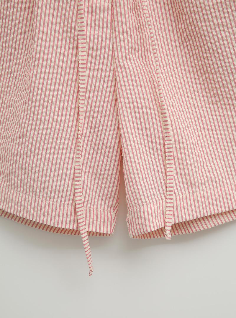 Mini Patch Accent Striped Shorts