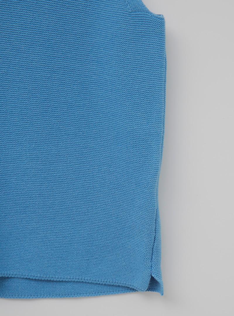 簡約棉麻V領無袖上衣