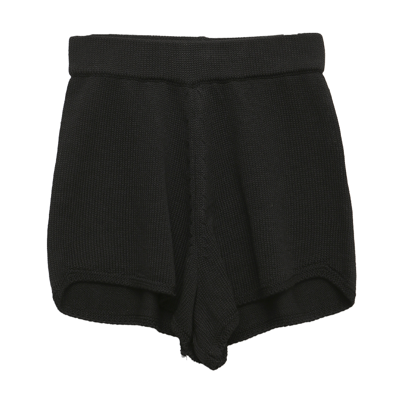 Elastic Waist Mini Knit Shorts
