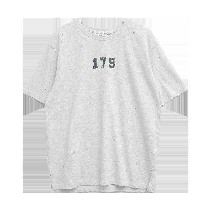 179 Print Distressed T-Shirt