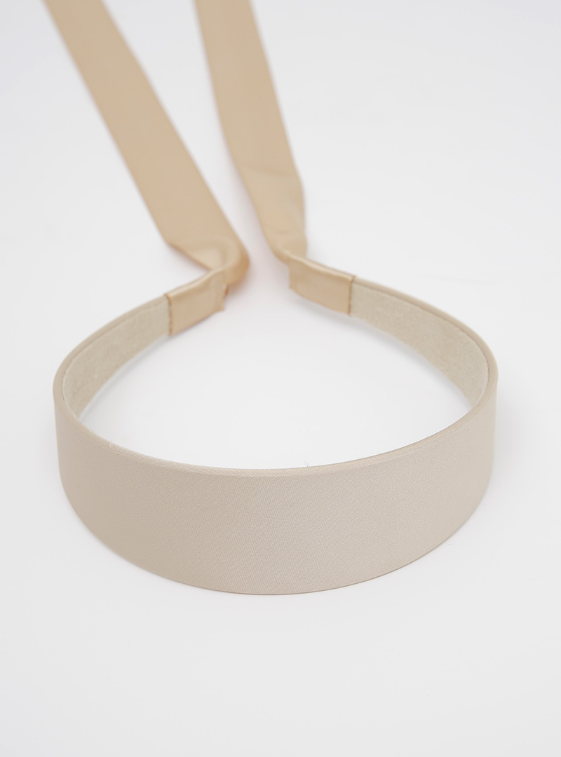 甜美緞帶拼接純色髮箍