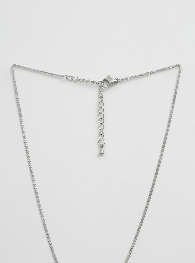 小巧圓形綴飾金屬項鍊