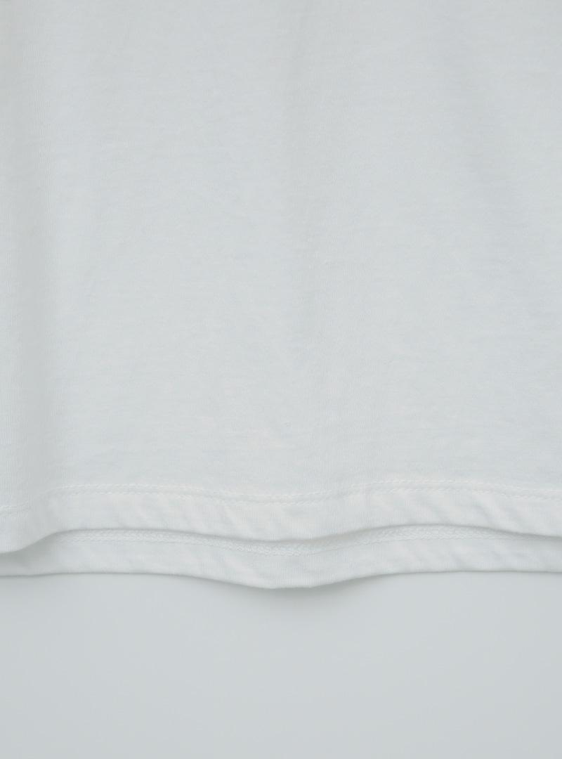 簡單字母圓領短袖T恤