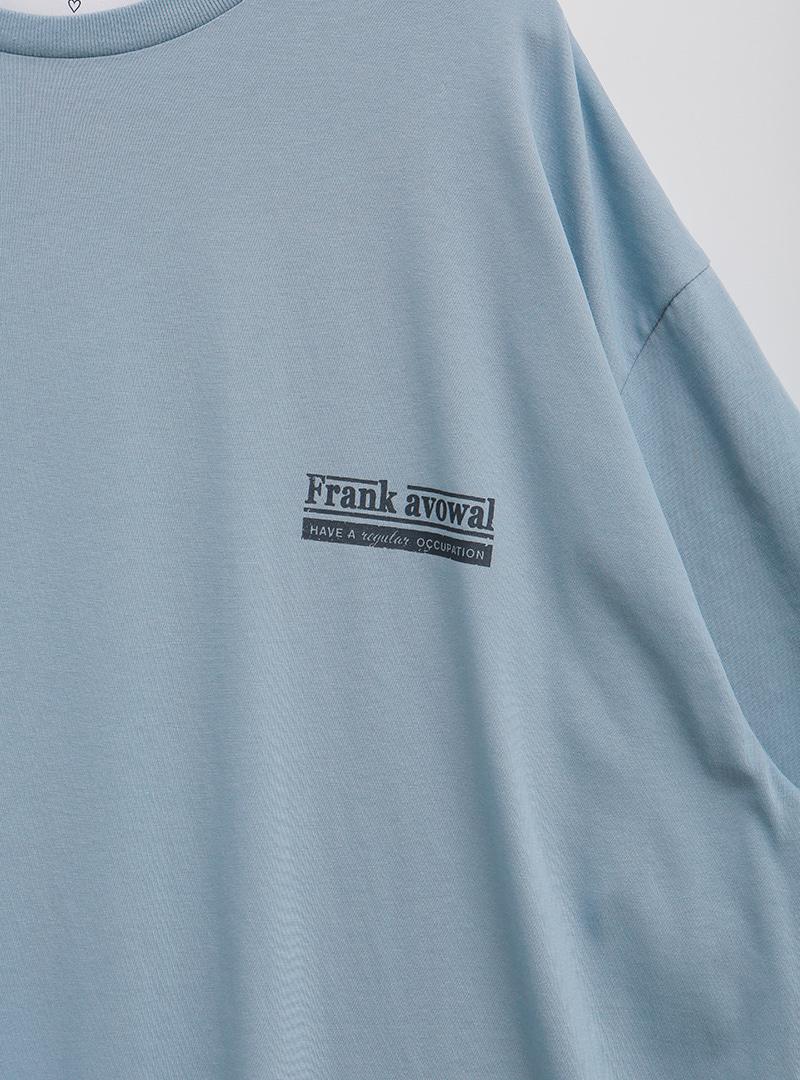 프랭크레터날염 하프박시탑원피스
