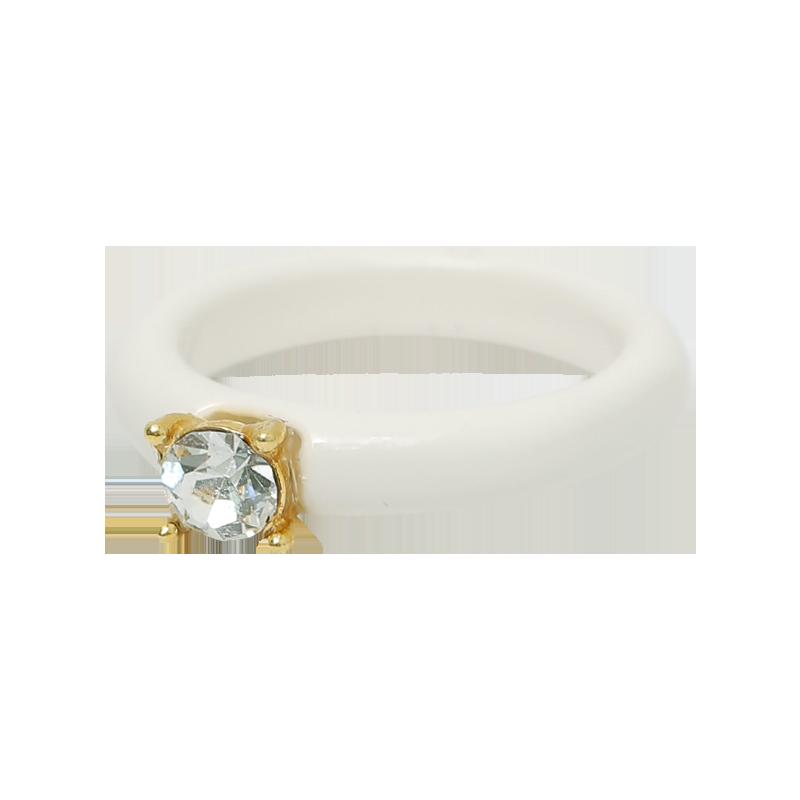 Single Stud Pastel-Toned Band Ring