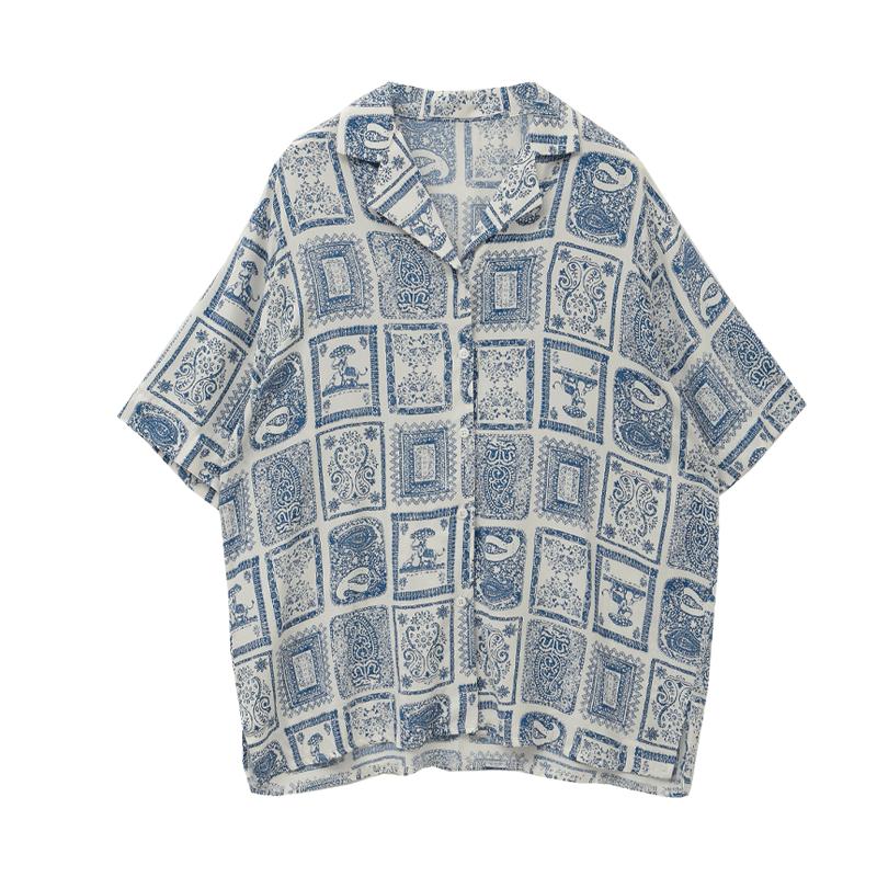 오리엔탈프레임 쿨터치하프셔츠