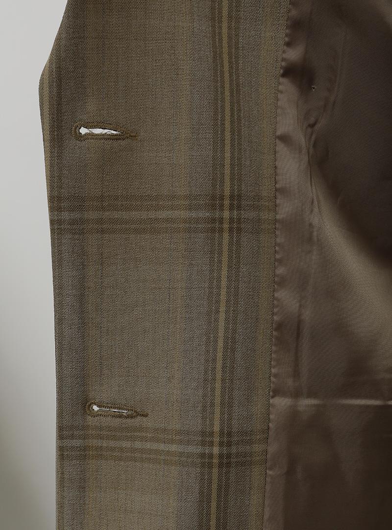 Check Pattern Notch Lapel Blazer