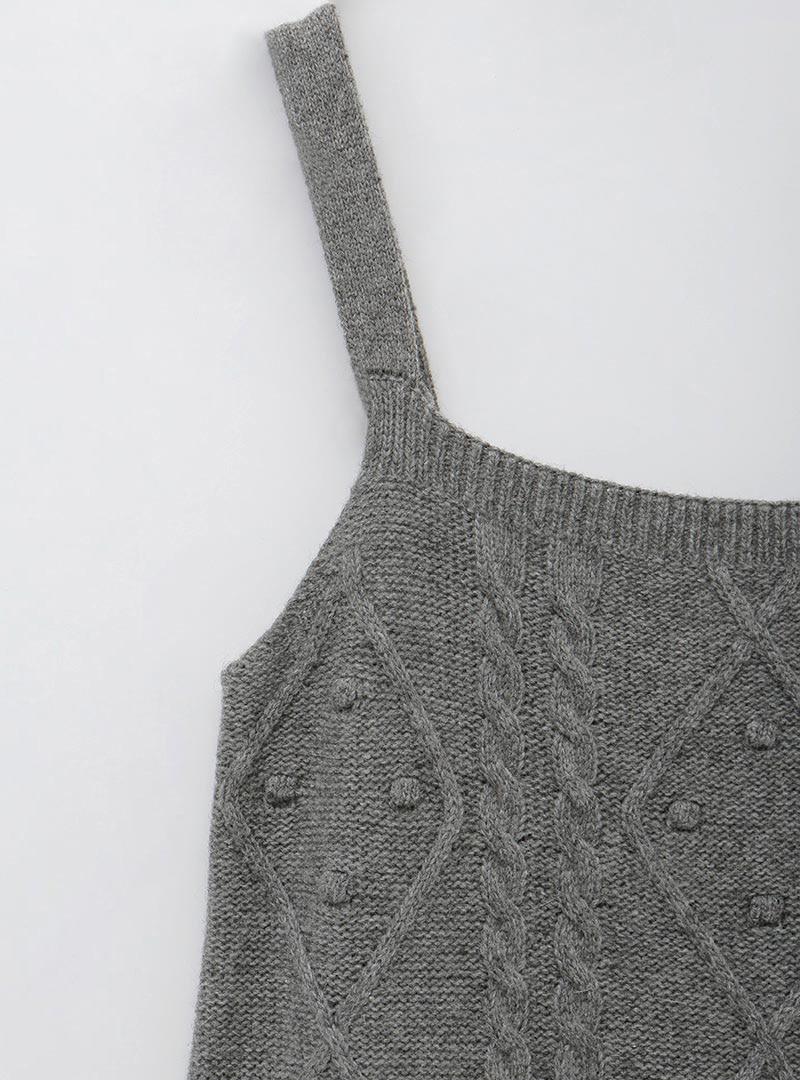 Cable Knit Sleeveless Knit Dress