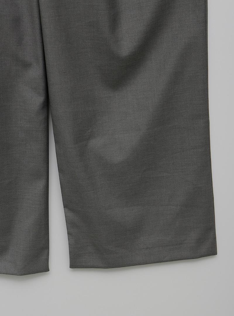 Front Pleat Loose Fit Long Slacks