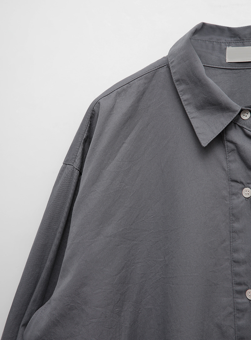 Solid Tone Boxy Cotton ShirtThe delivery starts from Oct.29th along with your purchase order!!