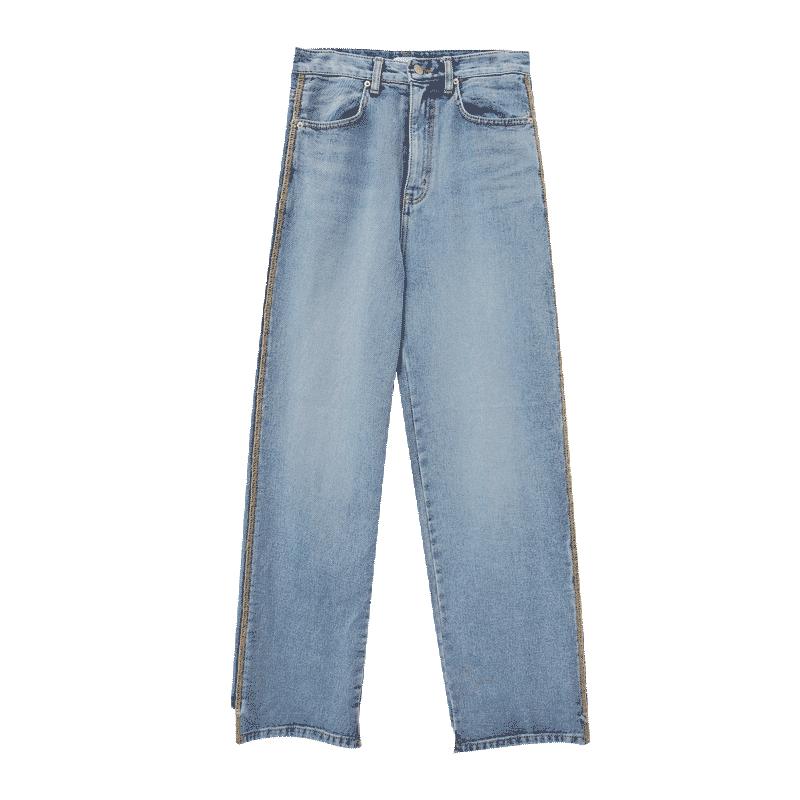 Asymmetrical Hem Loose Fit Jeans