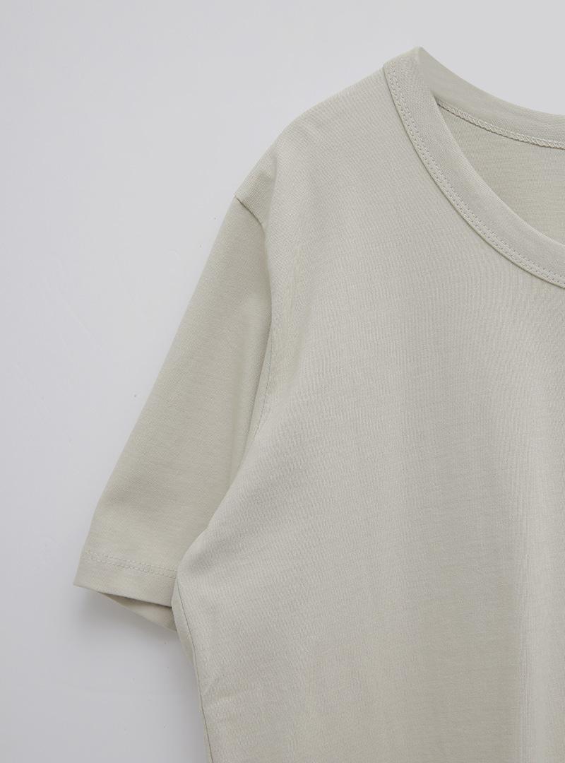 基本款純棉圓領短袖T恤
