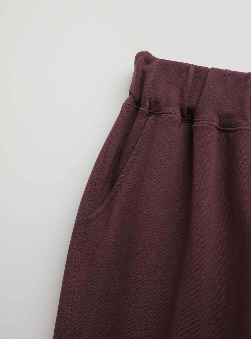 M刺繡褲腳綁帶休閒褲