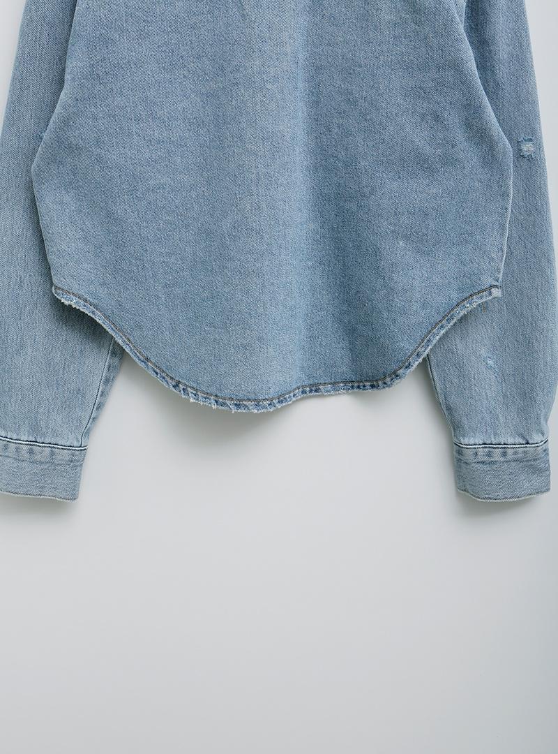 Round Hem Denim Jacket