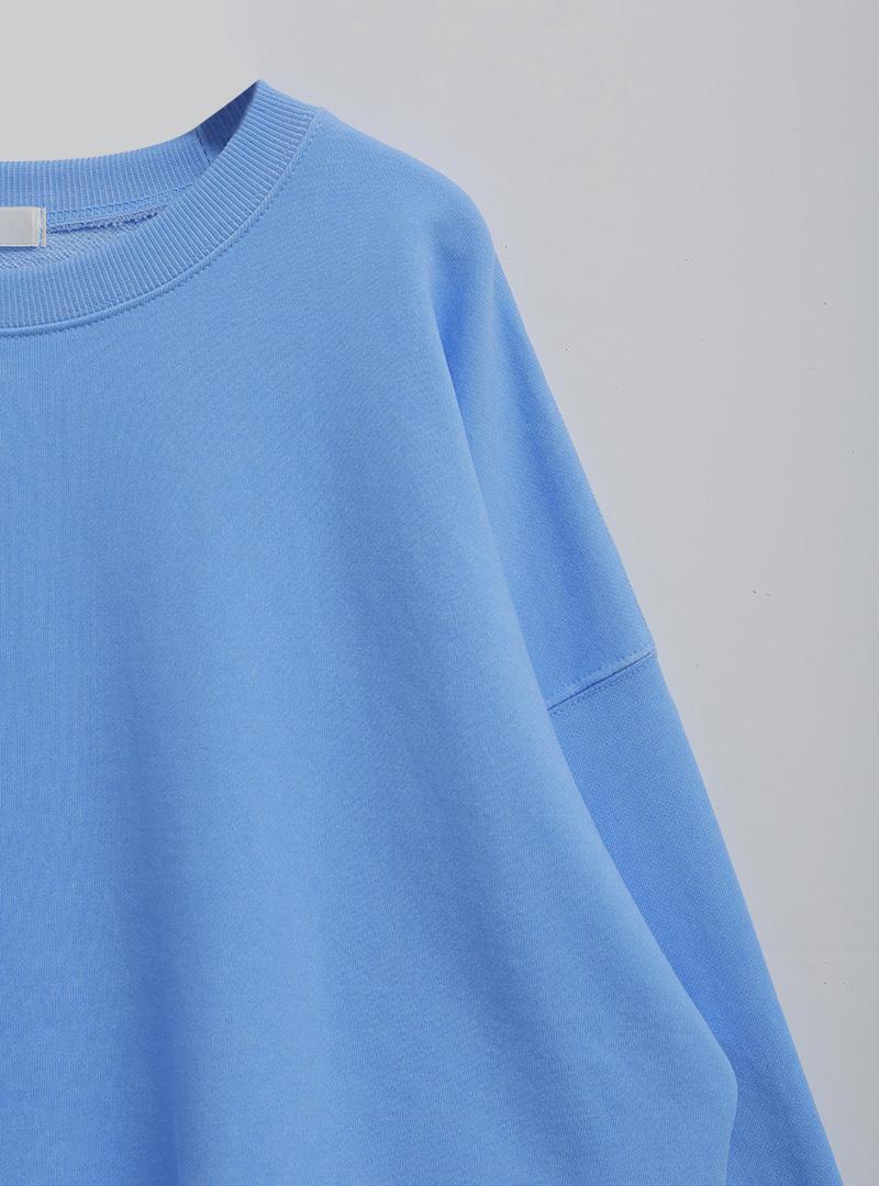 Drop Shoulder Solid Tone Sweatshirt
