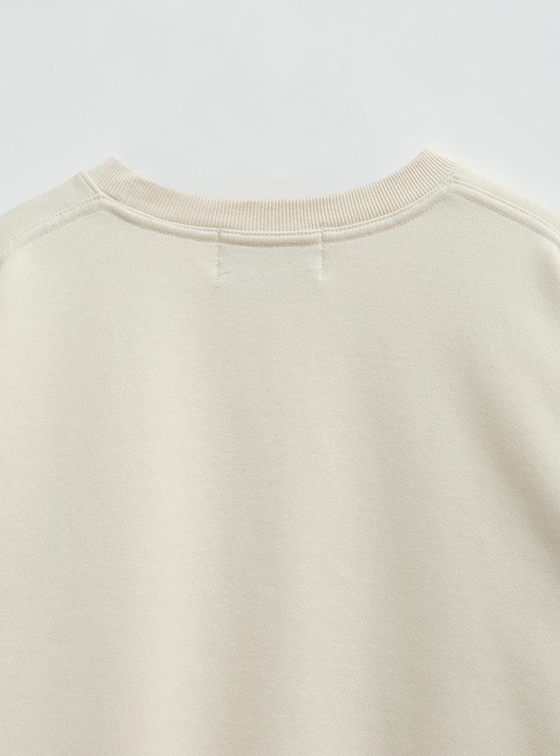 [VARIOUS ME] Lettering Print Drop Shoulder Sweatshirt