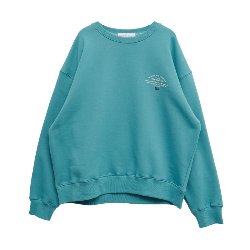 Mini Lettering Print Sweatshirt