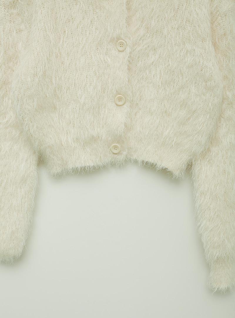 Collared Fuzzy Cardigan