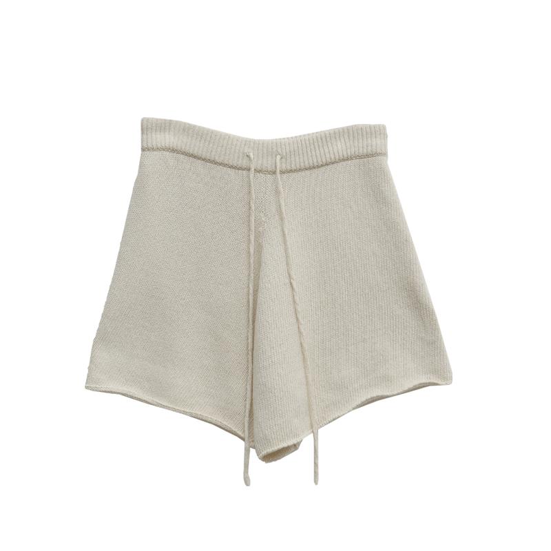舒適好感抽繩針織短褲