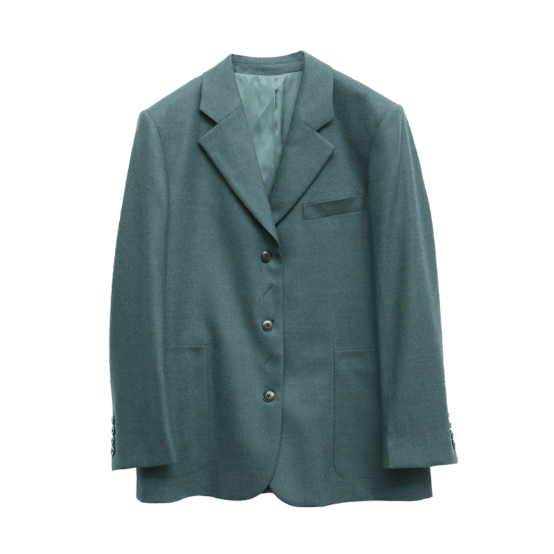 Notched Collar Loose Fit Blazer