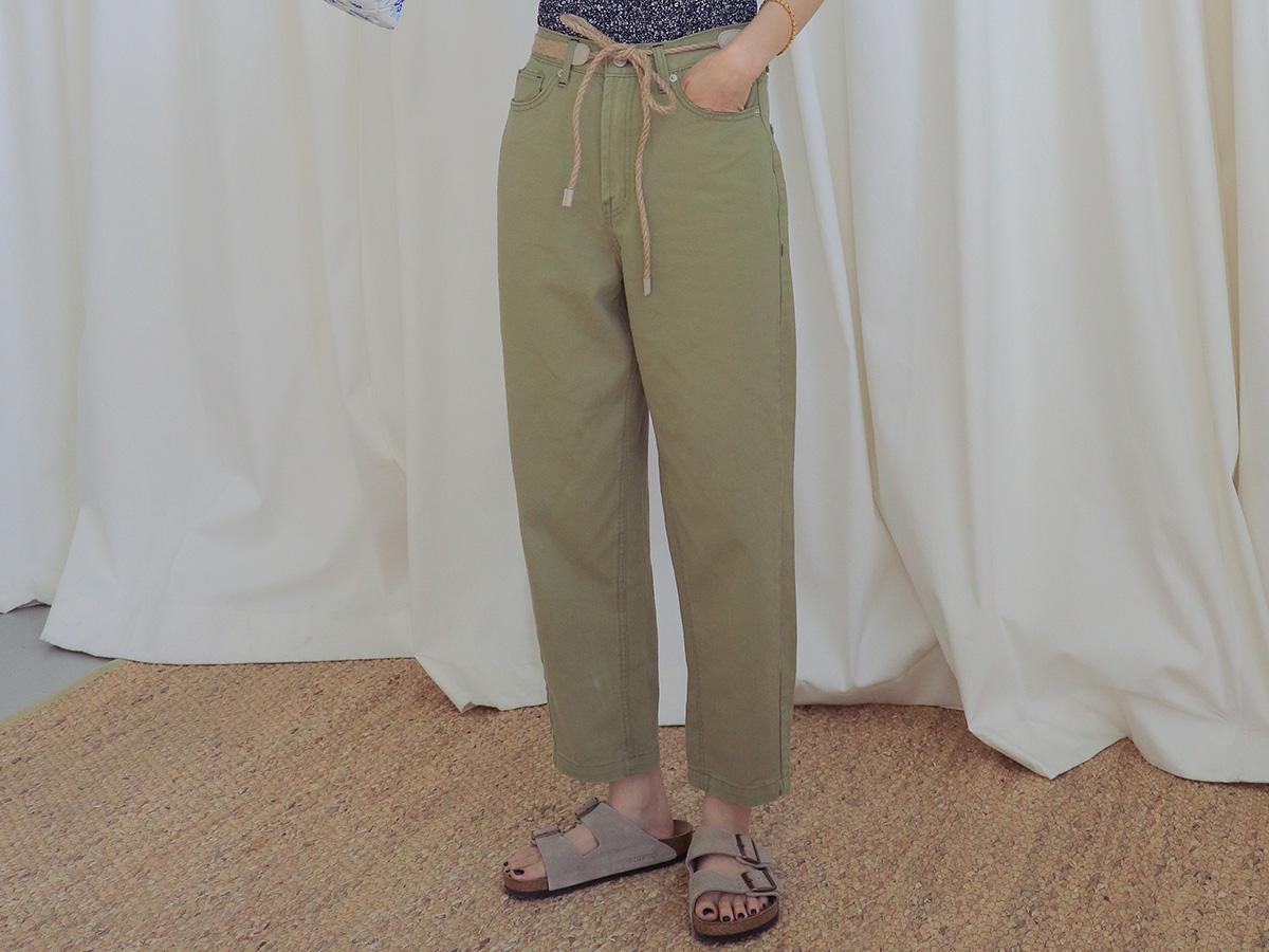 틴틴바택배색 탄탄코튼롱팬츠