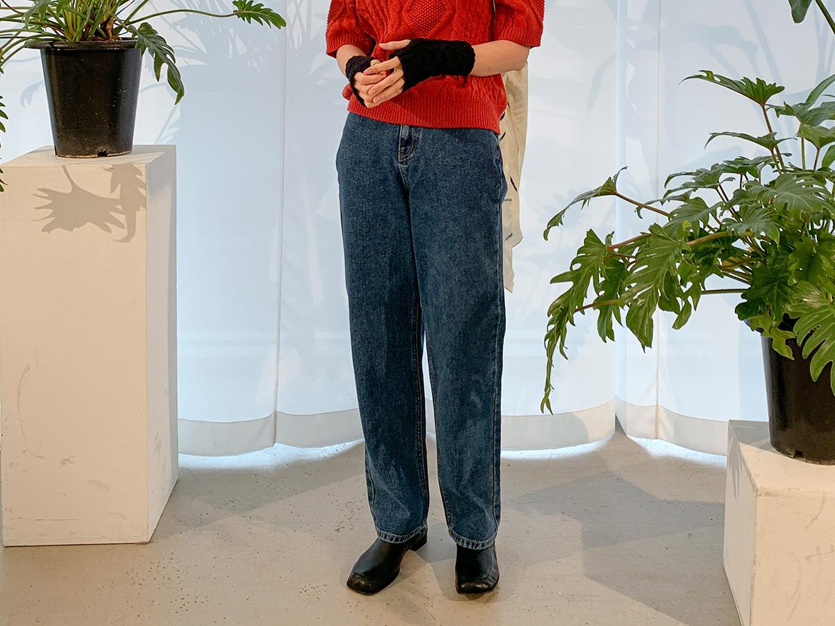 簡約自然風直筒牛仔褲