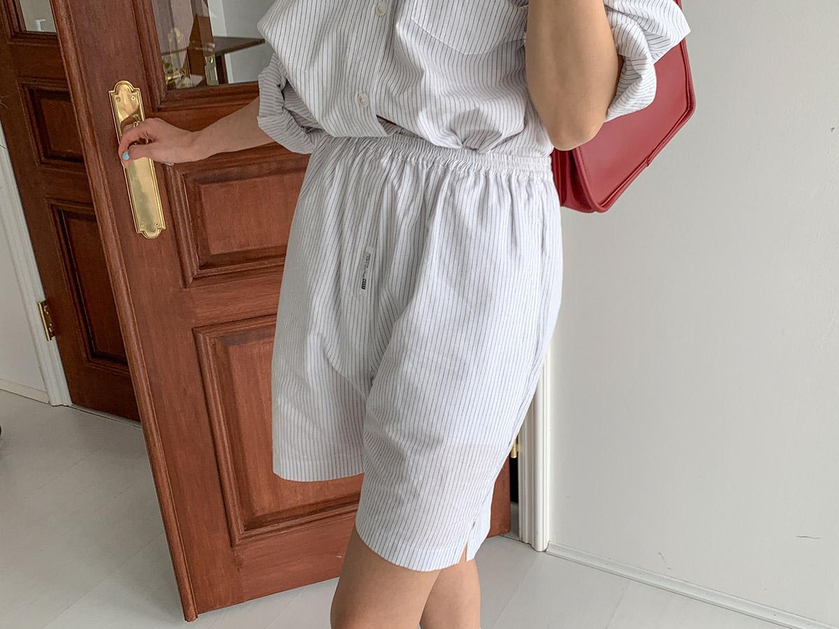 Elastic Waist Stripe Shorts