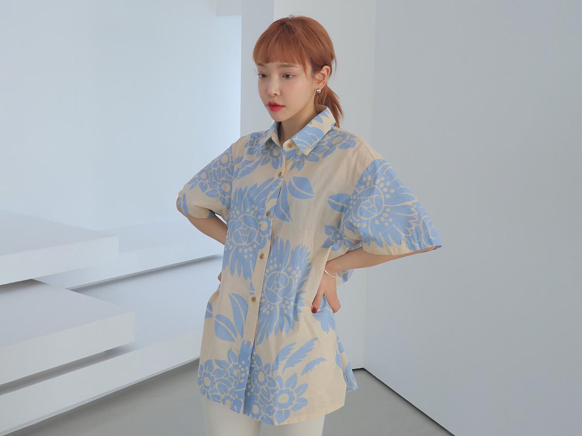 오리엔탈블룸 하프블랑셔츠