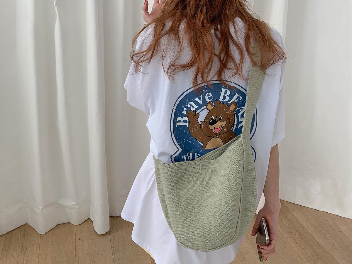 Half Moon Knitted Shoulder Bag