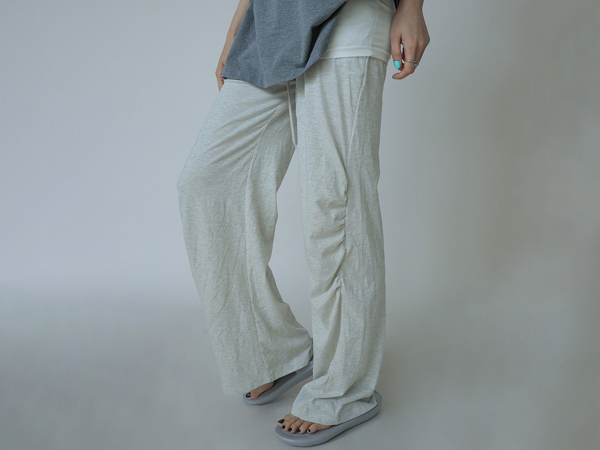 Ruched Side Drawstring Waist Pants