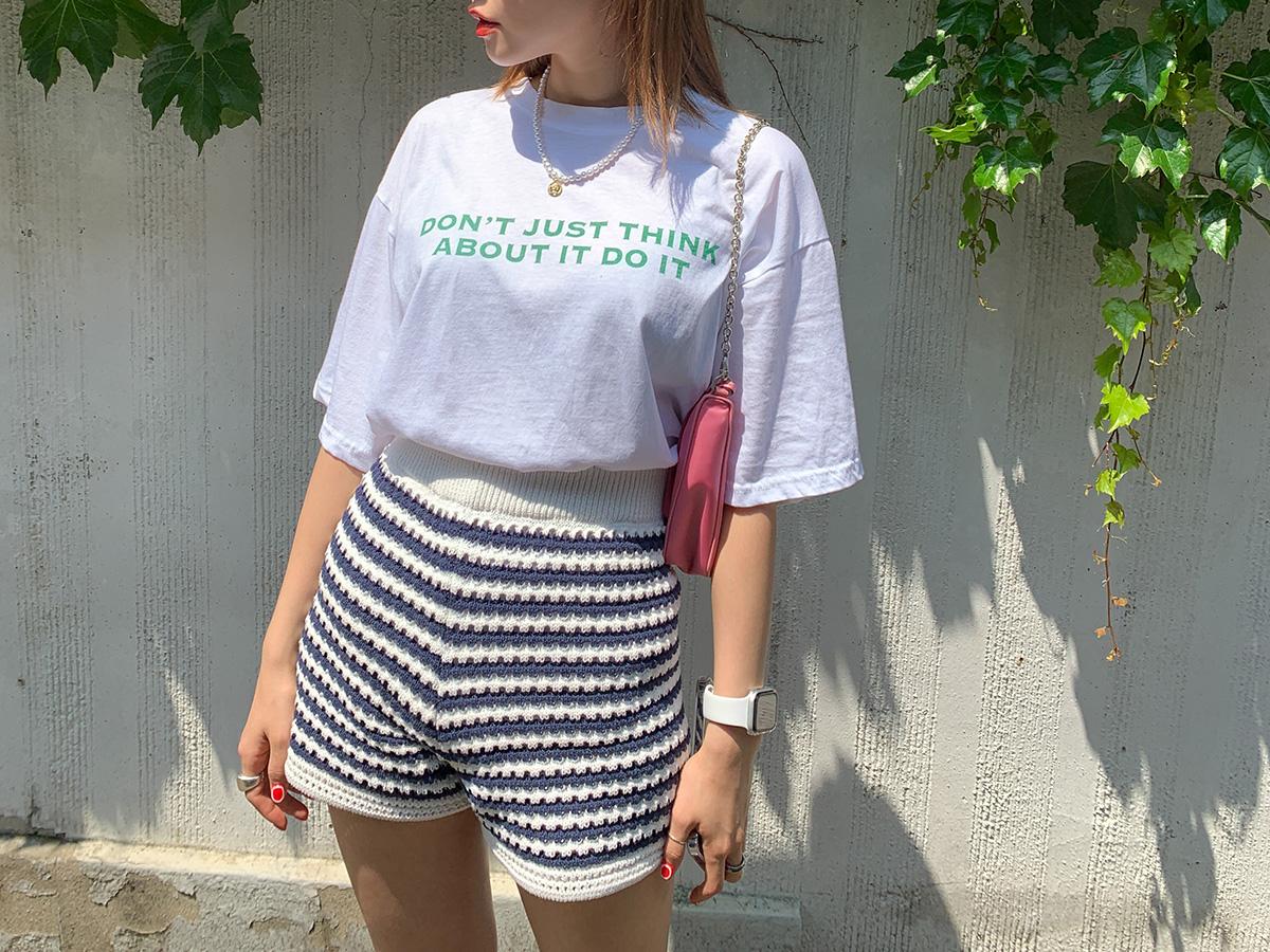 Statement-Printed Half Sleeve T-Shirt