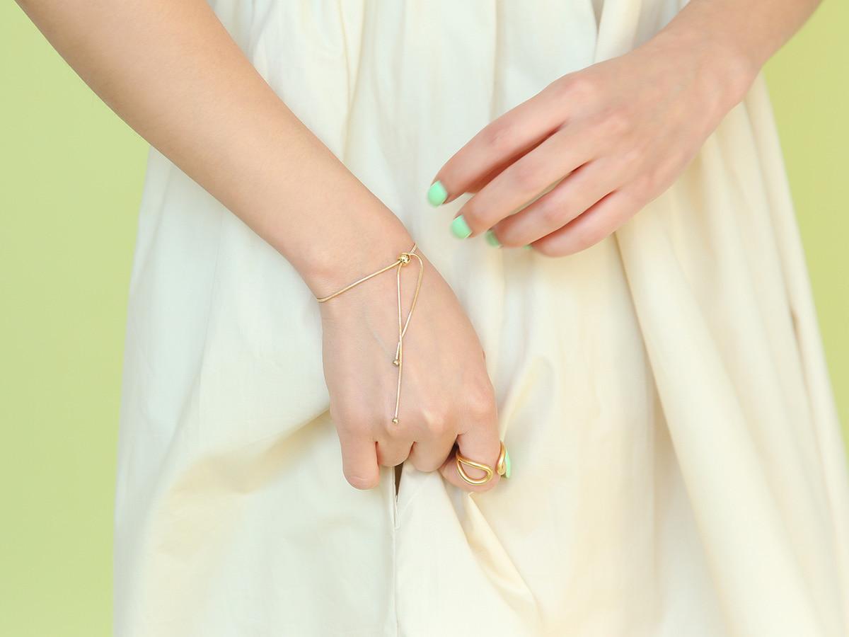 圓珠點綴可調式手鍊