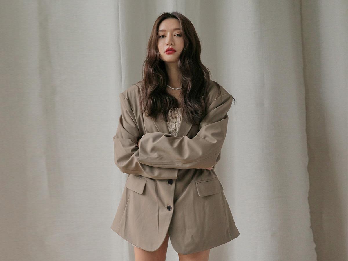 오버박시핏 클래식싱글자켓#10월 01일부터 순차 배송가능!!
