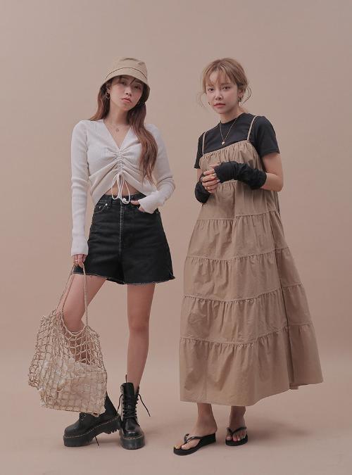 Sleeveless Tiered Midi Dress