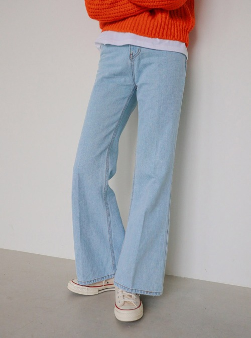 Creased Bell Bottom Jeans