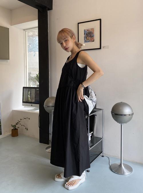 Tie-Back Sleeveless Long Dress