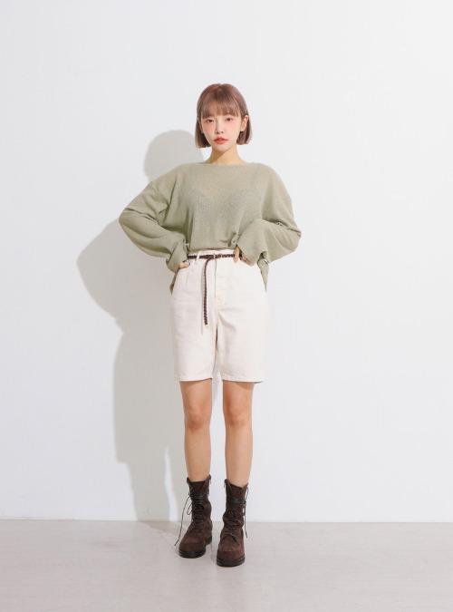 Cotton Mid-Length Shorts