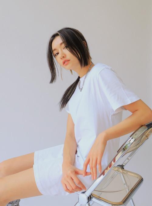 Cutout Back Short Sleeve Mini Dress