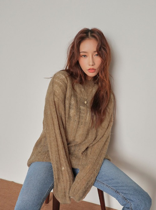 Sheer Cable Knit Top