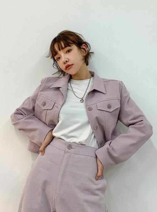 Cropped Cotton Shirt Jacket