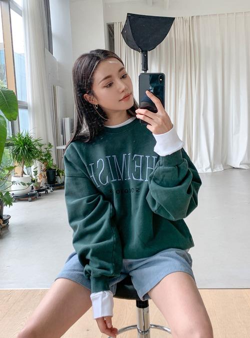Embossed Lettering Detail Sweatshirt
