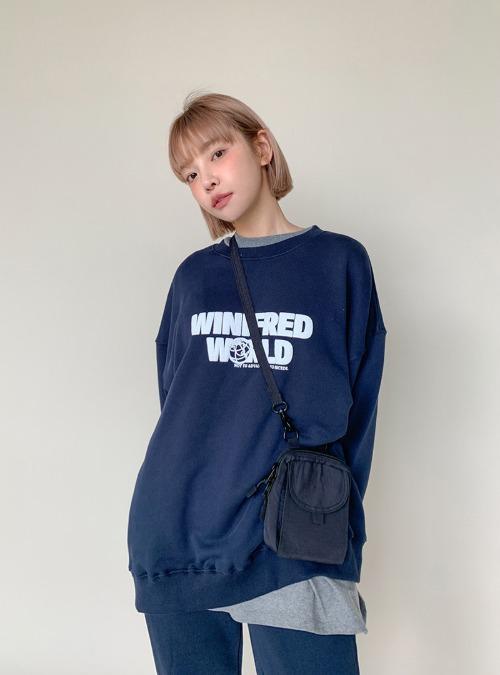 WORLD Lettering Detail Sweatshirt