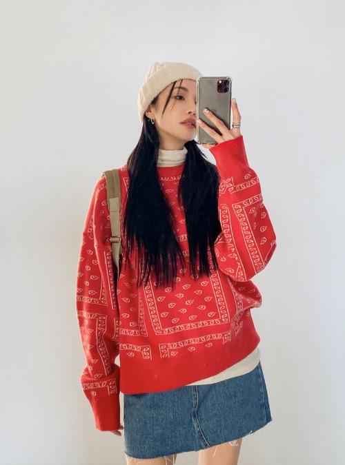 Paisley Woolen Sweater