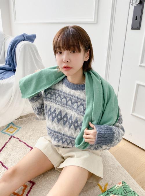 Zigzag Pattern Loose Sweater