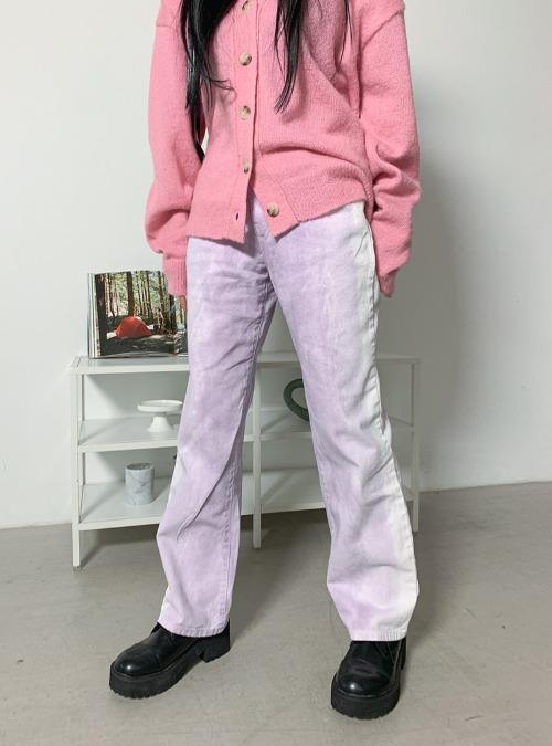 Faded Straight Cut Pants