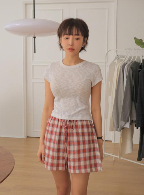 Semi-Sheer Cap Sleeve T-Shirt