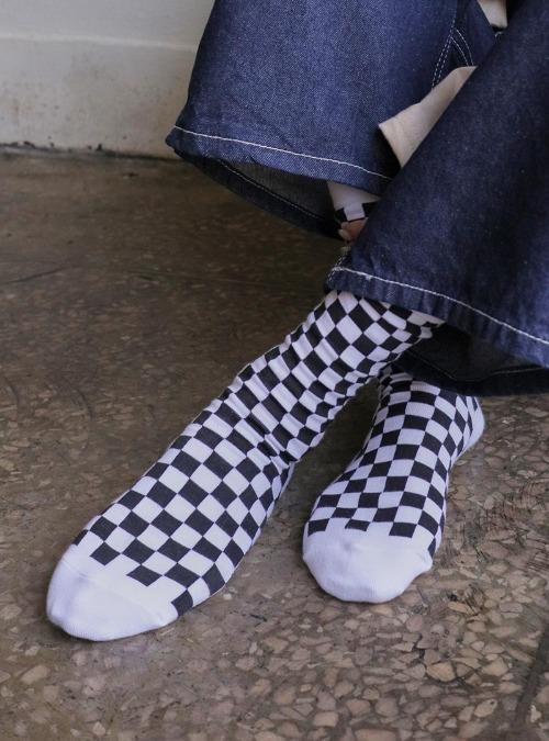 Checkered Crew Socks